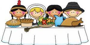 Pilgrims celebrating thanksgiving